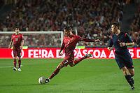 LISBOA, PORTUGAL, 29 DE MARÇO 2015 - QUAL. UEFA EURO 2016 - PORTUGAL X SÉRVIA -  Jogador Cristiano Ronaldo (c) durante jogo de qualificação para o Europeu de futebol entre Portugal X Sérvia, no Estádio da Luz, em Lisboa, Portugal. (Foto: Bruno de Carvalho - Brazil Photo Press)