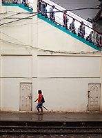 Life at the Yangon Railway Station, Yangon, Myanmar, Burma