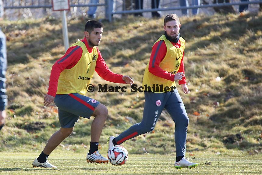 Carlos Zambrano und Marc Stendera - Eintracht Frankfurt Training, Commerzbank Arena