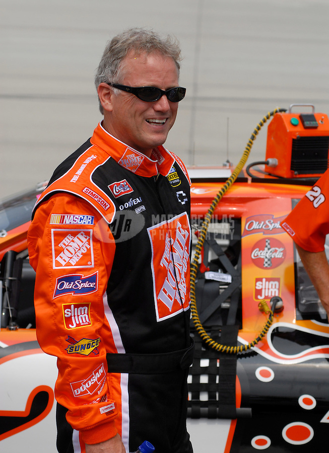 June 2, 2006; Dover, DE, USA; Nascar Nextel Cup driver Ricky Rudd (20) during qualifying for the Neighborhood Excellence 400 at Dover International Speedway. Rudd is replacing regular driver Tony Stewart (not pictured) who is recovering from injuries in last weeks race. Mandatory Credit: Mark J. Rebilas