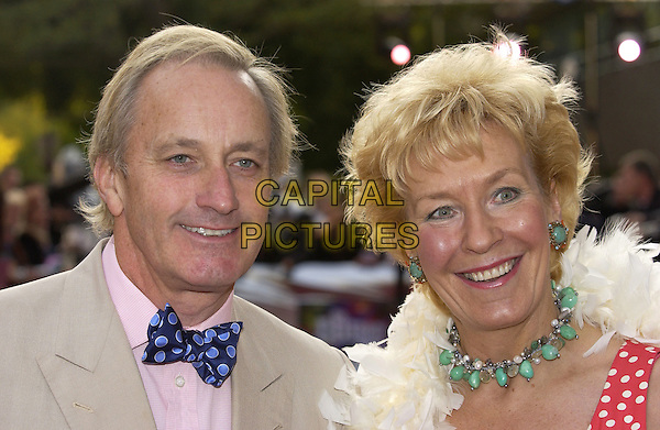 """NEIL & CHRISTINE HAMILTON.ITV's """"The Celebrity Awards"""".London 26 September 2004.headshot, portrait, polka dot bow tie, green beaded necklace, earrings, jewellery.www.capitalpictures.com.sales@capitalpictures.com.©Capital Pictures"""