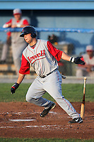 Lowell Spinners First Baseman Miles Head during a game vs. the Batavia Muckdogs at Dwyer Stadium in Batavia, New York July 14, 2010.   Batavia defeated Lowell 12-2.  Photo By Mike Janes/Four Seam Images