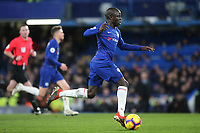 N'Golo Kante of Chelsea races upfield during Chelsea vs Newcastle United, Premier League Football at Stamford Bridge on 12th January 2019