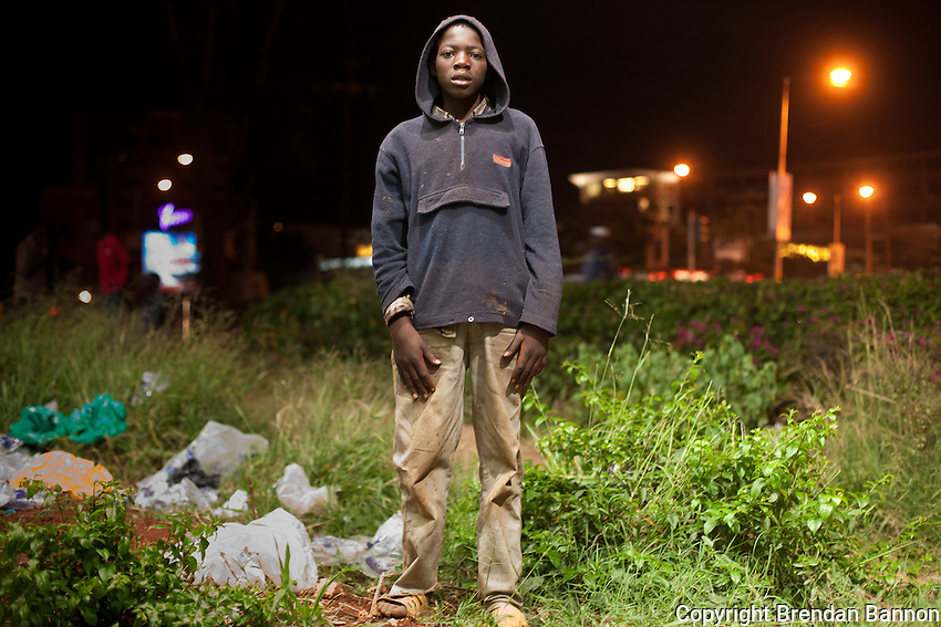 Harrison Shem, a 14 year old street kid living in Westlands, Nairobi