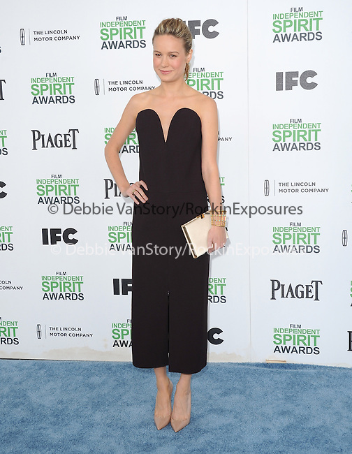 Brie Larson<br /> <br /> <br />  attends The 2014 Film Independent Spirit Awards held at Santa Monica Beach in Santa Monica, California on March 01,2014                                                                               © 2014 Hollywood Press Agency