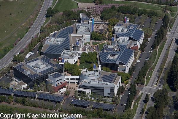 aerial photograph Google headquarters Mountain View, California