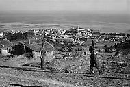 """Ecole Militaire d'Infanterie de Cherchell, Algérie, October 1960. General view of the school from """"Plateau Sud""""."""