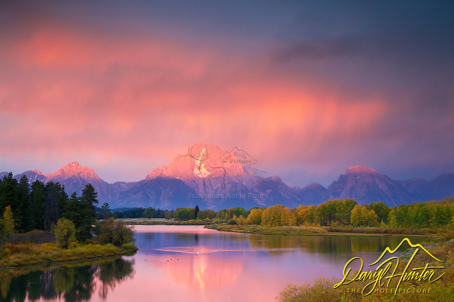 Thunderstorm, Sunrise, Grand Tetons, Oxbow Bend, Jackson Hole, Wyoming