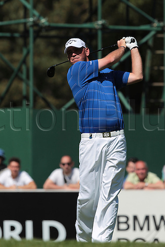 26.05.2012 Wentworth, England. Thomas Bjorn (DEN) in action during the BMW PGA Championship. Saturday, day 3 of competition.