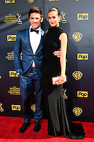 BURBANK - APR 26: Casey Moss, True O'Brien at the 42nd Daytime Emmy Awards Gala at Warner Bros. Studio on April 26, 2015 in Burbank, California