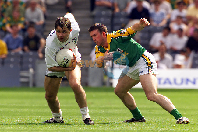 Meath's Evan Kelly in action against Kildare's Karl O'Dwyer at Croke Park..Picture: Paul Mohan/Newsfile