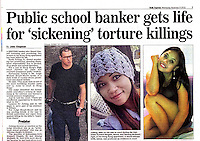 The Daily Express 09Nov2016<br /> British banker Rurik Jutting found guilty of murdering two Indonesian women in Hong Kong on 9th Nov, 2016