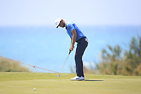 Lucas Bjerregaard (DEN) on the 6th green during Round 1 of the Rocco Forte Sicilian Open 2018 on Thursday 5th May 2018.<br /> Picture:  Thos Caffrey / www.golffile.ie<br /> <br /> All photo usage must carry mandatory copyright credit (&copy; Golffile | Thos Caffrey)