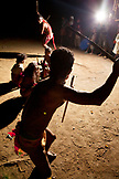 PHILIPPINES, Palawan, Barangay region, Batak members of Kalakwasan Village perform a war dance called Sa'Ad