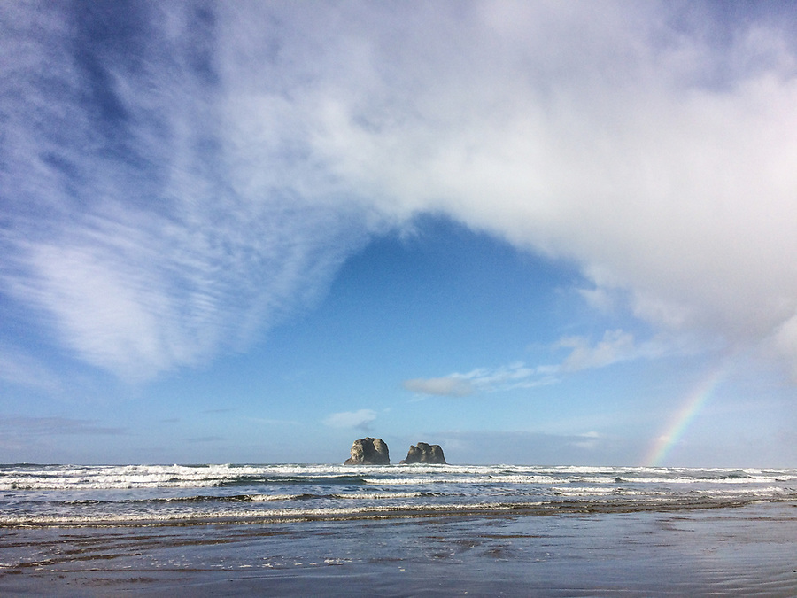 beach scenes at Twin Rocks Beach, / Rockaway beach near Rockaway oregon