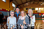 Mai Langan Bill Young, Christina Hellard, and Angela Walsh enjoying the activities in Lixnaw part of the North Kerry Positive Ageing Day in Lixnaw on Sunday