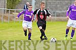 Tralee Dynamos Aaron Houlihan and Shamrock Rovers Keith Kinsella.