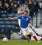 David Templeton fouled by Paul Gallacher