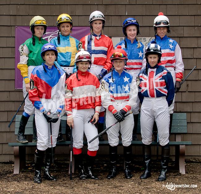 The International Ladies Fegentri  group at Delaware Park racetrack on 6/9/14