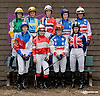 The International Ladies Fegentri  group at Delaware Park racetrack on 6/9/14