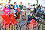 Transition year students from Mercy Mounthawk who are participating in the Jr. Rotary Interact Project took to Ashe St. on Monday to help clean it up. Pictured from l-r were: Aoife Rush, Catherine Murphy, Lydia Walsh, John Nolan, Michael O'Leary, Sarah Morris and Brendan O'Brien.