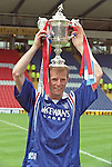 "Gordon ""Jukebox"" Durie with the Scottish Cup in 1996 at Hampden after a 5-1 victory over Hearts"