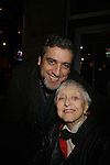 Celeste Holm (Loving) and husband Frank Basile- Stars of Daytime and Prime Time Television and Broadway bartend to benefit Stockings with Care 2011 Holiday Drive  - Celebrity Bartending Event with Silent Auction & Raffle on November 16, 2011 at the Hudson Station Bar & Grill, New York City, New York. For more information - www.stockingswithcare.org.  (Photo by Sue Coflin/Max Photos)