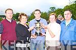 Presenting the Killarney Athletic Sean O'Connor/Martin Beckett memorial Player of the Year cup to Trevor Nagle at their field on Friday l-r: Martin, Eileen Beckett, Trevor Nagle, Mary and Pat O'Connor   Copyright Kerry's Eye 2008