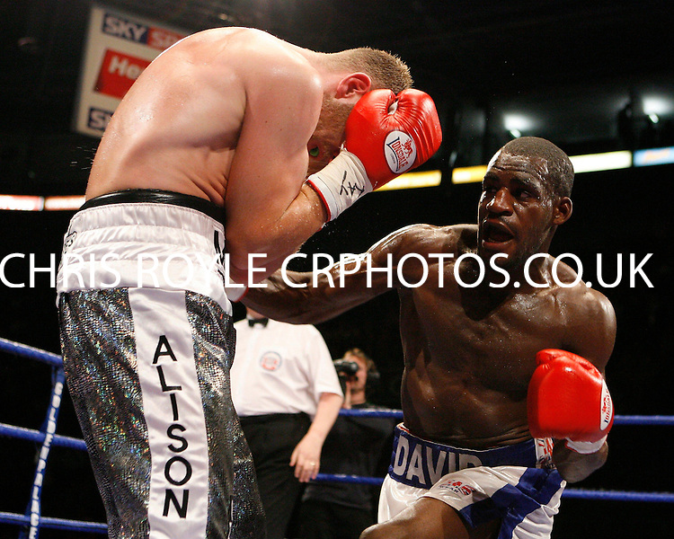 Paul David beats Michael Monaghan on points for the Midlands Area super middleweight title at the Nottingham Ice Arena 09/11/07 - promoted by Hennessy Sports MANDATORY CREDIT: chris royle