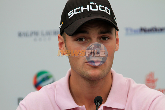 Martin Kaymer at press conference during Practice Day 1 of the Dubai World Championship, Earth Course, Jumeirah Golf Estates, Dubai, 23rd November 2010..(Picture Eoin Clarke/www.golffile.ie)