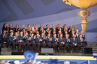 25.09.2014. Gleneagles, Auchterarder, Perthshire, Scotland.  The Ryder Cup.  The European team at the opening ceremony.