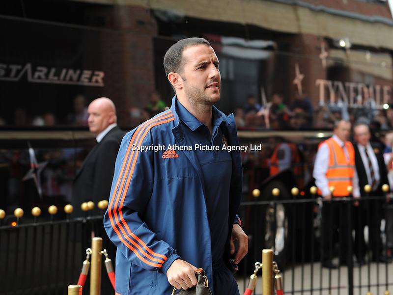 John O'Shea of Sunderland arrives at the Stadium of Light during the Barclays Premier League match between Sunderland and Swansea City played at Stadium of Light, Sunderland