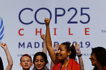 Members of Friday for future during the nineth day of COP25 Chile-Madrid at IFEMA Madrid on 11 Dec 2019.(ALTERPHOTOS/Manu R.B.)