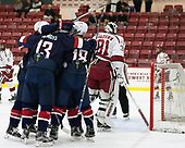 - The Harvard University Crimson defeated the US National Team Development Program's Under-18 team 5-2 on Saturday, October 8, 2016, at the Bright-Landry Hockey Center in Boston, Massachusetts.
