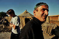 Sleptsovskaja – Confine Inguscezia-Cecenia / 2004. Profughi ceceni. Refugee camp on the Ingushetia-Chechnya border. <br /> Photo Livio Senigalliesi