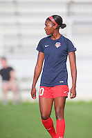 Boyds, MD - Saturday July 09, 2016: Cheyna Williams prior to a regular season National Women's Soccer League (NWSL) match between the Washington Spirit and the Chicago Red Stars at Maureen Hendricks Field, Maryland SoccerPlex.