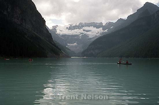 Canoes on Lake Louise<br />