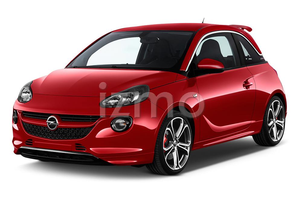 2017 Opel Adam S 3 Door Hatchback angular front stock photos of front three quarter view