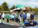 Elizabeth Morland  from Cushinstown AC taking part in the girls under 16 high jump at her home club. Photo: Colin Bell/pressphotos.ie