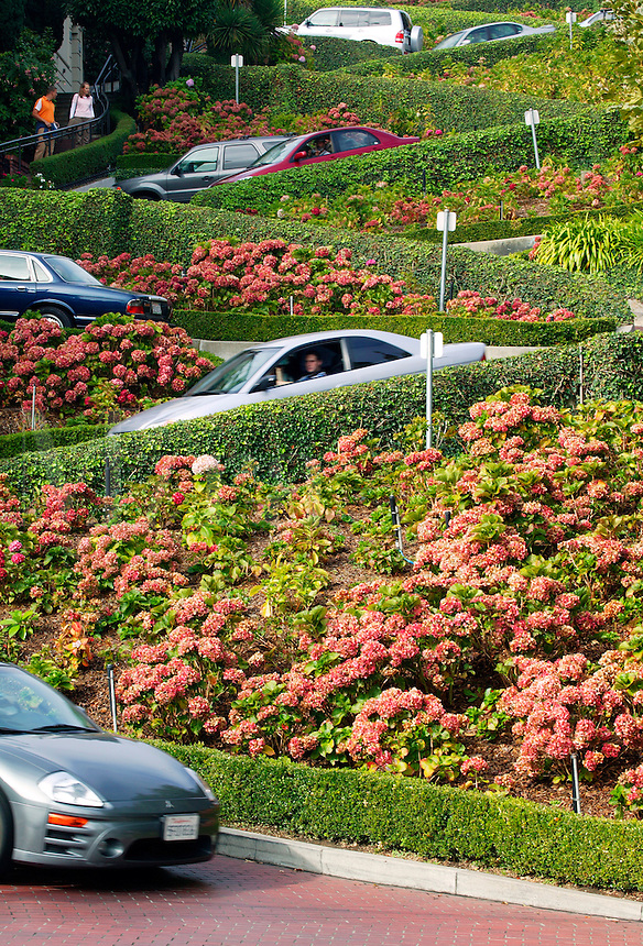 The Crookedest Street, Lombard Street, San Francisco, California