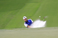 Tyrrell Hatton (ENG) chips from a bunker at the 13th green during Thursday's Round 1 of the 2017 PGA Championship held at Quail Hollow Golf Club, Charlotte, North Carolina, USA. 10th August 2017.<br /> Picture: Eoin Clarke | Golffile<br /> <br /> <br /> All photos usage must carry mandatory copyright credit (&copy; Golffile | Eoin Clarke)