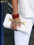 "Actress Joanna Garcia 's purse and jewelry at the Los Angeles Premiere of ""The Love Guru"" on June 11, 2008 at Grauman's Chinese Theatre in Hollywood, California."