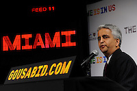 U.S. Soccer President and USA Bid Committee Chairman Sunil Gulati announces Miami as one of the 18 cities to be submitted to FIFA as part of the bid to host the 2018 or 2022 FIFA World Cup at the ESPN Zone in Times Square, NYC, NY, on January 12, 2010.