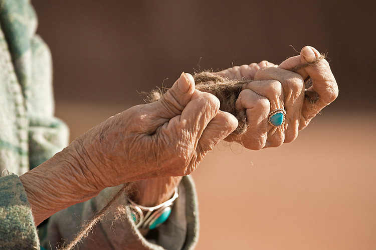 Hands of Susie Yazzie