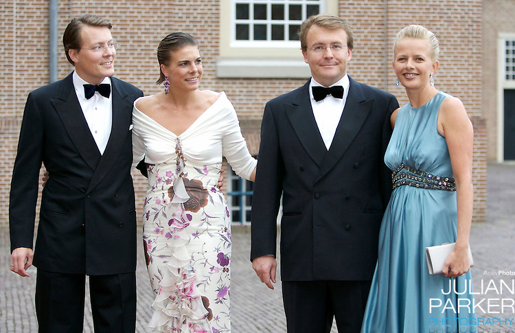 Prince Constantijn and Princess Laurentien of Holland, and Prince Johan Friso and Princess Mabel arrive  for a Reception at Het Loo Palace in Apeldoorn, to celebrate the 40th Birthday of Crown Prince Willem Alexander, The Prince turned forty in April earlier this year.