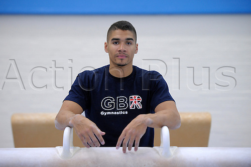 14.09.2011 British Gymnastics Press Day.Members of the National Squad in training before the World Championships in Tokyo.Louis Smith
