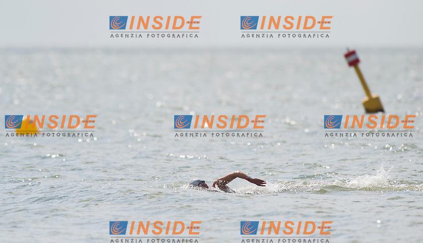 ARAOUZOU Kalliopi GRE<br /> Hoorn, Netherlands <br /> LEN 2016 European Open Water Swimming Championships <br /> Open Water Swimming<br /> Women's 5km<br /> Day 02 12-07-2016<br /> Photo Giorgio Perottino/Deepbluemedia/Insidefoto