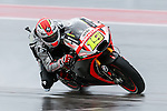 Alvaro Bautista (19) in action during the first practice session of the Red Bull Grand Prix of the Americas race at the Circuit of the Americas racetrack in Austin,Texas.