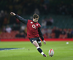 Danny Cipriani of England warms up - RBS 6Nations 2015 - Wales  vs England - Millennium Stadium - Cardiff - Wales - 6th February 2015 - Picture Simon Bellis/Sportimage