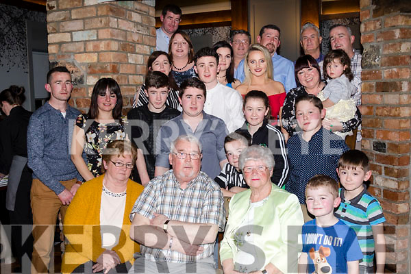 Mighty 70<br /> -------------<br /> Patrick Enright from Ballyduff, seated front, celebrated his 70th birthday surrounded by his family and friends in the Meadowlands hotel, Tralee last Saturday evening.